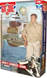 Hasbro Year 2000 G.I. Joe 12 Inch Tall Action Figure - John F. Kennedy as PT 109 Boat Commander with Tropical Issue Khaki Trousers, Jacket, Sunglasses, Utility Cap, K-Bar Knife and Sheath, .38 Cal. Pistol and Holster, Web BElt, Operations Map, Miniature Replica of the Coconut Husk, Boots and Navy Dog Tags