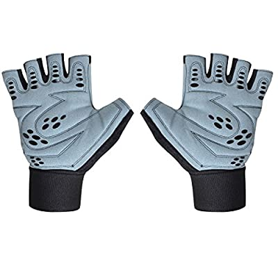 Leather Weight Lifting Gym Fitness Gloves Wrist Support from MMT
