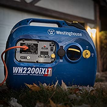 Westinghouse WH2200iXLT Super Quiet Portable Inverter Generator - 1800 Rated Watts and 2200 Peak Watts - Gas Powered - CARB Compliant