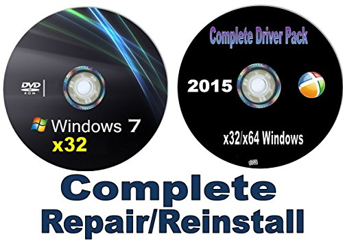 WINDOWS 7 Home Basic and Home Premium x32/x64 bit Repair/Recovery/Restore Boot Disc Factory Fresh Re-install~~Fix PC~*NOW* w/Network Drivers added~Full Support Included~ SATISFACTION GUARANTEED or YOUR MONEY BACK (Windows 7 Repair compare prices)