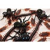 害虫 フェイク ゴキブリ ムカデ クモ ドッキリ おもしろ ジョーク グッズ 大量 セット (ゴキ30ムカ10 蜘蛛 3)