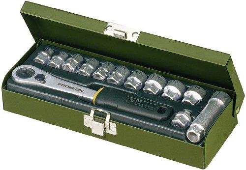 PROXXON-23602-Feinmechaniker-Spezialsatz-13tlg-55-14-mm-mit-offener-Ratsche