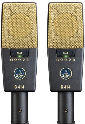 Akg Pro Audio C414 Xlii Stereoset Vocal Condenser Microphone, Multipattern