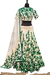 Crazy Butik women Bhagalpuri lehenga Choli[ LDB1028_Green_free size]