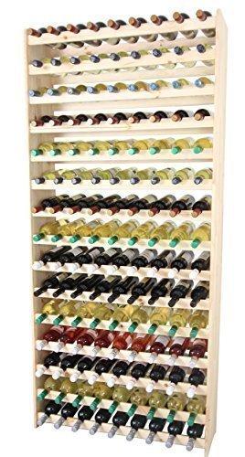 Len Mar.de Weinregal Weinregal Holz Flaschenregal für 135 Flaschen !!!!! Massiv-135