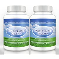 PURIFLUSH ULTRA (2 Bottles) - Advanced All-Natural Colon Cleansing Supplement - Best Intestinal Cleanse Formula (60 Capsules per Bottle)
