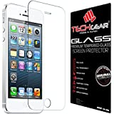TECHGEAR� Apple iPhone 5s 5c 5 GLASS Edition Genuine Tempered Glass Screen Protector Guard Cover (iPhone 5s/5c/5)