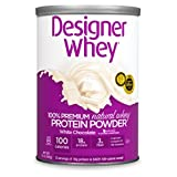 Designer Protein 100% Premium Whey Protein Powder, White Chocolate, 12-Ounce Canister