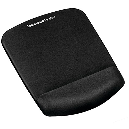 Fellowes PlushTouch Mouse Pad/Wrist Rest with FoamFusion Technology, Black (9252001) (Microban Mouse Pad compare prices)