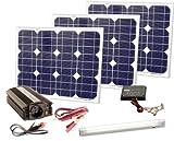 Süd Solar 03091 Kit complet de production d'énergie solaire 90 W 230 V...