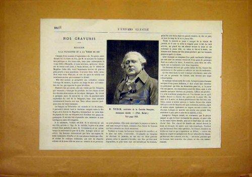 Portrait Thiron France French Print 1891