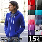 (アメリカンアパレル)American Apparel F497 Flex Fleece Zip Hoody ジップアップ無地パーカー L D.H.Grey