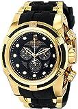 Invicta Jason Taylor  Bolt Zeus Chronograph Black Carbon Fiber Dial Black Polyurethane Watch (12955)