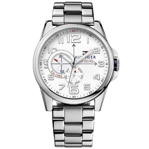 Tommy Hilfiger 1791006 FREDERICK watch mens watch stainless steel 50 m analog date white