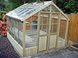 Greenhouse Swallow Raven Thermowood 8ft8 x 8ft3 Tanalised Timber Free installation by the Manufactures