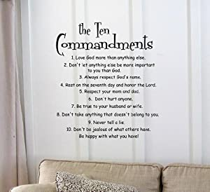 Amazoncom The 10 Commandments Vinyl wall art