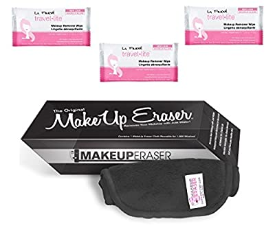 Best Cheap Deal for Makeup Eraser - BLACK COLORED CLOTH - Chemical Free Makeup Removing Cloth - Machine Washable from Makeup Eraser - Free 2 Day Shipping Available