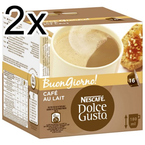 1 x 16 capsule nescafe dolce gusto cafe au lait by nescafe coffee pods capsules and. Black Bedroom Furniture Sets. Home Design Ideas