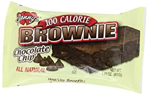 Glenny's Brownies 100 Calorie, Natural, Chocolate Chip, 1.45 Ounce Bags (Pack of 12)