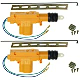 Universal Car Power Door Lock Actuator 12-Volt Motor (2 Pack)