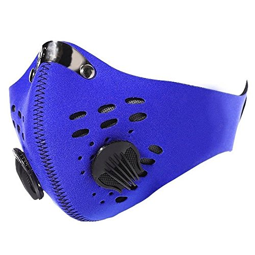 JontyTM Blue Respiratory Mask With Carbon Filter For Bikers