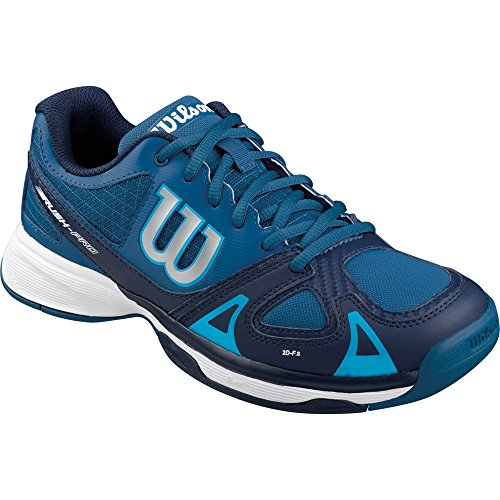 WilsonRUSH PRO JR - Scarpe da Tennis Unisex - Bambini , Multicolore (Mehrfarbig (DEEP WATER/NAVY WILSON/SCUBA BLUE)), 34 2/3