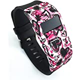 Band Cover For Fitbit Charge/Fitbit Charge HR Slim Designer Sleeve - Band Cover (Flower-07)
