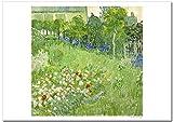 世界の名画 ゴッホ ドービニーの庭 ジークレー技法 高級ポスター (B4/257ミリ×364ミリ)