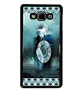 PrintDhaba Time D-5675 Back Case Cover for SAMSUNG GALAXY A8 (Multi-Coloured)
