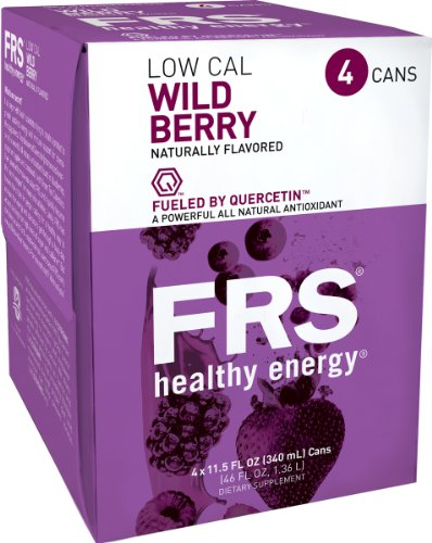 FRS Healthy Energy Liquid, Low Cal Wild Berry, 11.5-Ounce Cans (Pack of 24)