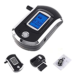 Ranphy Mini Police Digital LCD Breath Alcohol Tester The Breathalyzer Parking Car Detector Gadget Meter