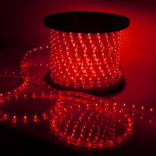 Led String Lights Home Hardware : 150 LED Rope Light 110v Party Home Outdoor Xmas Lighting Ip67 Waterproof (Red) Hardware Tools ...