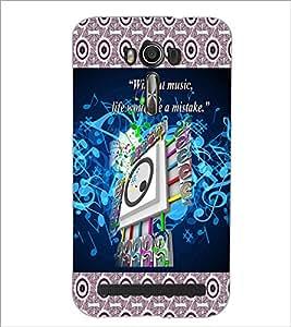 PrintDhaba Guitar D-3183 Back Case Cover for ASUS ZENFONE 2 LASER ZE550KL (Multi-Coloured)