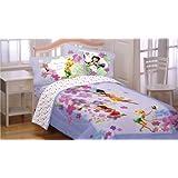 Disney Fairies Flower Magic Art 3pc Twin Bed Sheet Set