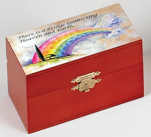 Urn - Wood - Rainbow Bridge Series - For Pets 1 to 25 lbs. (Angel Cat Urn compare prices)