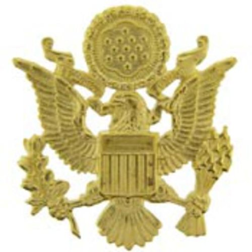 U.S. Army Officer Pin Gold Plated 2 1/2