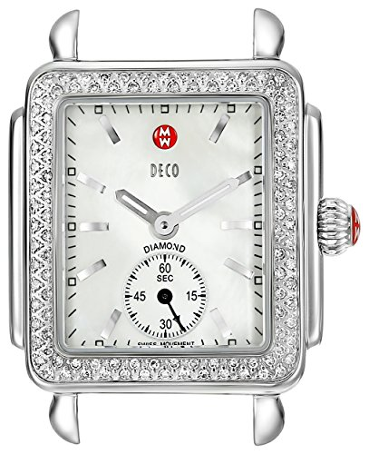 MICHELE-Womens-MW06V01A1025-Deco-16-Analog-Display-Swiss-Quartz-Silver-Watch-Head
