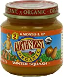 Earth's Best Organic Stage 2, Winter Squash, 4 Ounce (Pack of 12)