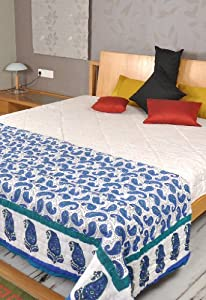 Indian Cotton Quilts Decorative King Size Jaipuri Quilt
