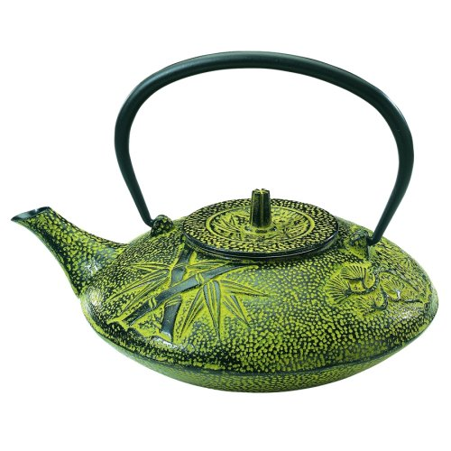 Old Dutch 38-Ounce Cast-Iron Nobility Teapot, Moss Green