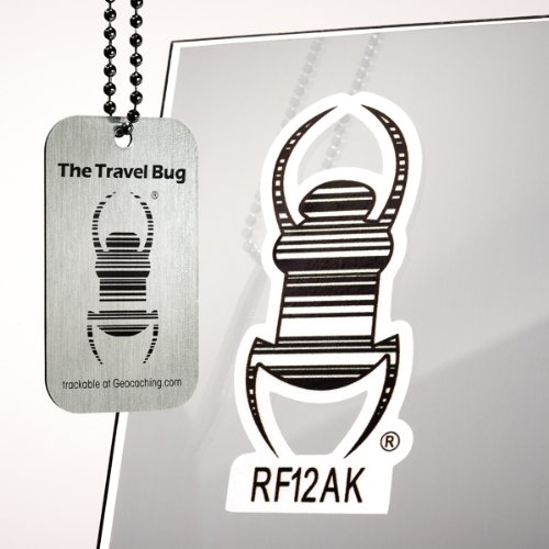 Cache Advance Vehicle Travel Bug Decal, Reflective 3 Inch