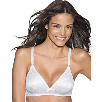 Hanes Women's Lined Wirefree Bra, White, 34A