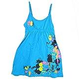 Disney Mickey Mouse Mick Head Splatter Tank Dress Ladies Women Aqua Blue