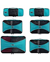 Pro Packing Cubes - 6 Piece Lightweight Travel Packing Cubes Set - Organizers and Compression Pouches System for Carry-on Luggage Accessories, Suitcase and Backpacking. Slim, Medium & Large