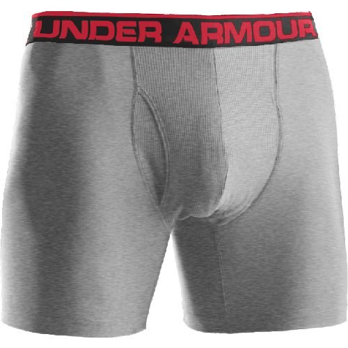"Mens Under Armour Original 9"" Boxer Jock, Color:Heather Grey"
