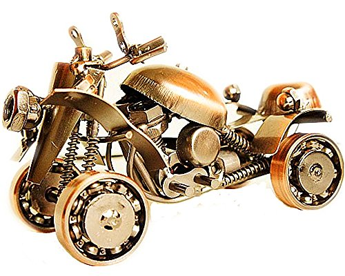 Zenness Handmade M58 Metal Beach Motorcycle Model/Metal Art Model,Burnished copper