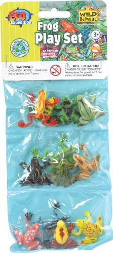 12 Piece Assorted Frog Playset