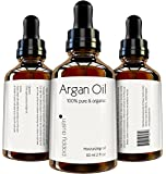 Poppy Austin® 100% Pure Argan Oil for Hair and Skin. An Exquisite Triple Purified Moroccan Argan Oil. Made by Hand, Cold Pressed and Responsibly Sourced. Certified and Approved Organic, 2 fl.oz