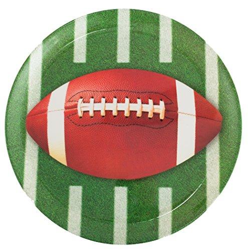 Football Round Plastic Platter - 1
