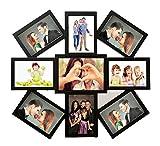 New Designer 9 in 1 Photo Frame Collage Black(4x6 inch-8, 5x7-1 Photo)